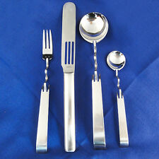 SCULPTURA 18/10 Stainless Rosenthal Germany 4 PIECE SET NEW NEVER USED SABATTINI