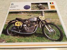 Carte moto FN 500 grand prix motocross 1958 collection Atlas Motorcycle BE