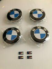 Set of 4 68mm Wheel Centre Caps Fits BMW + M Stickers