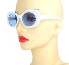 Sonnenbrille weiß sixties seventies Ella Jonte UV 400 blaue Gläser Retro Brille