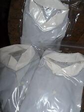 MEN'S WING TIP DRESS SHIRT WHITE COLLAR Silver Grey (Gray) BODY LOTS OF SIZES