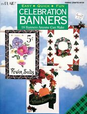 CELEBRATION BANNERS Made with Fusible Web or Fabric Glue Book - OOPS!