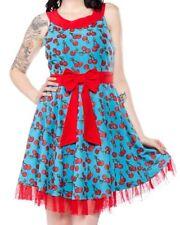 NWT Sourpuss Cherry Cobbler Dance Dress Retro Pinup Rockabilly Womens S