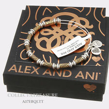 Authentic Alex and Ani Two Tone Quill RG/RS Expandable Bangle