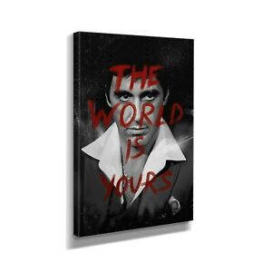 Scarface The World Is Yours Quote Premium Design Painting Picture Canvas Wall