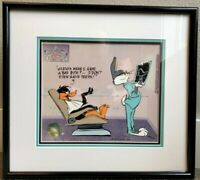 Warner Brothers Cel Bugs Bunny Daffy Duck Bad Bite Signed Chuck Jones Cell