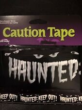 Haunted:  Keep Out Barricade Tape - Jokes,Gags- Halloween - 15 feet!