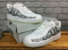 Nike Herren UK 6.5 EU 40.5 Air Force 1 Low Skelett weiß Glow Sneaker * selten * T