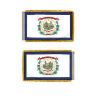 3x5 West Virginia State Poly Nylon Sleeve w/ Gold Fringe Flag 3'x5' Banner