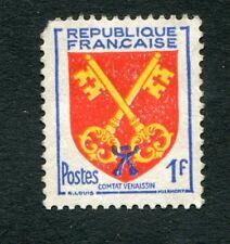 Timbre FRANCE neuf B* YT n° 1047 - Armoiries Provinces - Comtat Vénessin - 1955