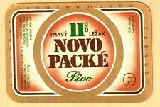 ETICHETTA -Novo Packé 11% - birra scura -Fabbrica: Nová Paka - Pep. Ceca - N. 66