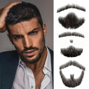 Fake Mustache in Daily Life Production Handmade Fake Beard Lace Man Hair Wig