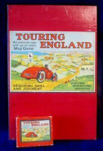 Vintage Touring England Board Game  - Geographia Ltd 1930/40s