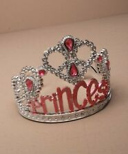 NEW Plastic silver childrens Princess tiara hair accessory bling party prom
