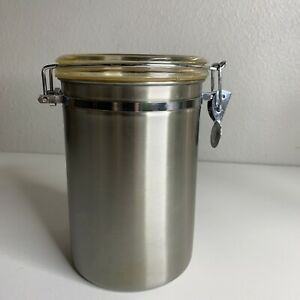 """OGGI Stainless Steel Canister 7"""" Locking Lid Air Tight Multi Use"""