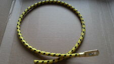 1920s 1930s Vintage Yellow/Black Cotton Braided Spark Plug Lead Terminal 610mm