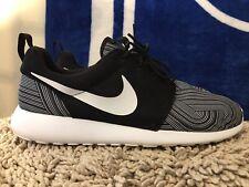 Nike Roshe Run One Print, 655206-011, Black/White, Men's Running Shoes, Size 12
