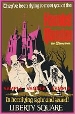 "Vintage Disney Haunted Mansion Liberty Square 1969 [ 8.5"" x 11"" ]   Poster"