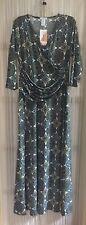 NEW Blue Paisley Honey and Lace (Piphany) 2XL Rocklin wrap dress NWT fits like L