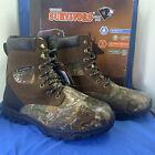 "Herman Survivors 800g  Men's Realtree Camo Waterproof Hunting Boots Wide - 8"""