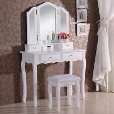 Schminktisch Kosmetiktisch Frisiertisch mit Spiegel Hocker Tisch Weiss MB6027cm