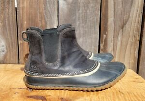 Sorel Women's sz 9.5 Black Chelsea Duck Rain Boot Out 'N About NL2410-010