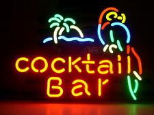 "New Cocktail Bar Parrot Palm Tree Bar Neon Light Sign 20""x16"""