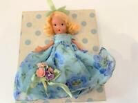 NASB Nancy Ann Storybook Bisque Doll 91 Summer Seasons FR Orig Box Flowers Exc