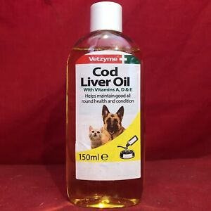 Cod Liver Oil Dogs Puppies Vitamin A D E Helps Good Health All Round Condition