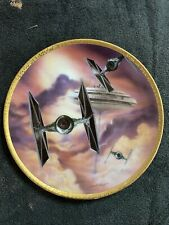 More details for star wars tie fights hamilton collection certified ltd ed plate by sonia hillios