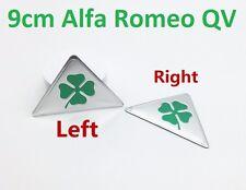 2x Grosse L+R Alfa Romeo 90mm QV Emblem Kleeblatt Quadrifoglio Verde CLOVERLEAF