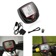 1Set Waterproof 15 Function LCD Bicycle Odometer Speedometer Cycling Meter Speed