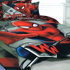 Ultimate Spiderman Web Warriors - Double/US Full Bed Quilt Doona Duvet Cover Set