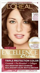 L'Oreal Excellence Creme - 5RB Medium Reddish Brown (Warmer) 1 Each (Pack of 5)