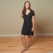 Faceplant Dreams Black Bamboo Short Sleeve Night Gown - Medium