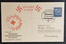 More details for german empire third reich original postcard party member iv