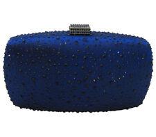 Anthony David USA Navy Blue Satin & Crystal Evening Bag