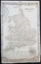 1836 Thomas Moule Large Original Antique Map of England & Wales