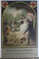 AK Deutschland Rote Kreuz-Sammlung 1914 gebraucht #PE653