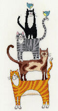 BOTHY THREADS CAT STACK COUNTED CROSS STITCH KIT BY KATE MAWDSLEY XKM1