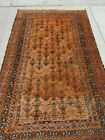 """Antique Balouch Great Rug Rare Large Size 60"""" x 100""""+ Nomad Tribal Red Orange"""