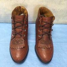 ARIAT 16029 Flat Fringe Ankle Leather Boots Sz 6