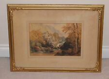 Fine Watercolour Painting James Baynes (1766-1837) Waterfall in a Landscape
