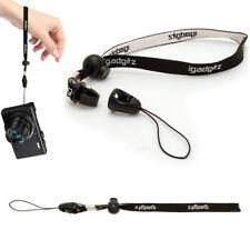 Dragonnes et poignées d'appareil photo et de caméscope noirs en polyester