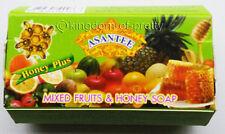 ASANTEE MIXED FRUITS HONEY SOAP Face Skin Lightening Collagen AHA Anti Acne 125g