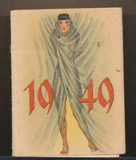 1949 Original Beautiful Pocket Pin-Up Girlie Calendar vv
