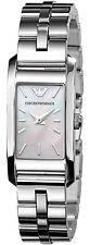 Emporio Armani Classic Silver/Mother of Pearl Quartz Women's Watch AR0733