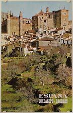 Affiche Tourisme ESPANA - GUADELUPE · CACERES - Années '60