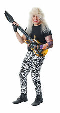 Mens Zebra Print Fancy Dress Costume Trousers Rocker Pimp Celebrity One Size