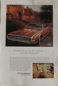 1967 Ford Thunderbird, Original Car Advertisement, Vintage Print Ad